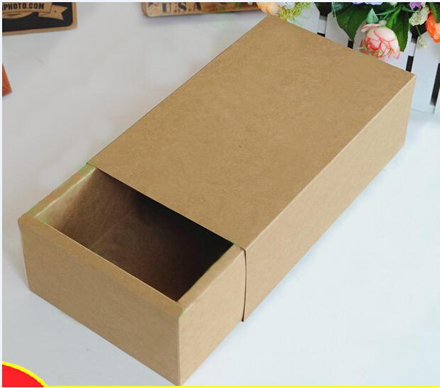 Size:16.2*9.2*3.2cm Kraft, Slider Paper Drawer Boxes , paper sliding drawer gift box , paper box gift(China (Mainland))