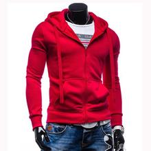 2016 New Men Zipper Hoodies Casual Hooded Cotton Polo Sweatshirt Hoodies Sweatshirts Male Men's Sports Suit WT004