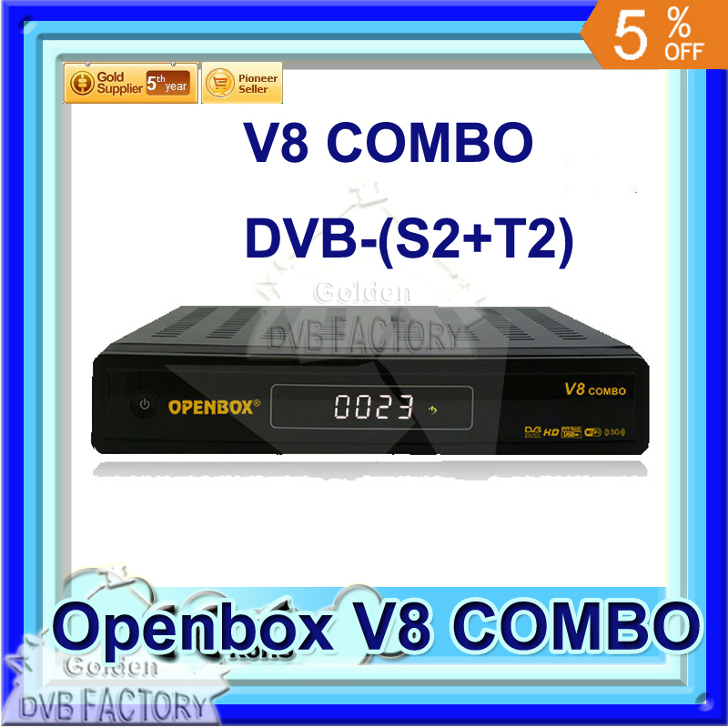 10PCS V8 combo hd receiver dvbt2 dvb s2 support arabic IPTV for Middle east Openbox V8 COMBOX HD Digital Satellite Receiver(China (Mainland))