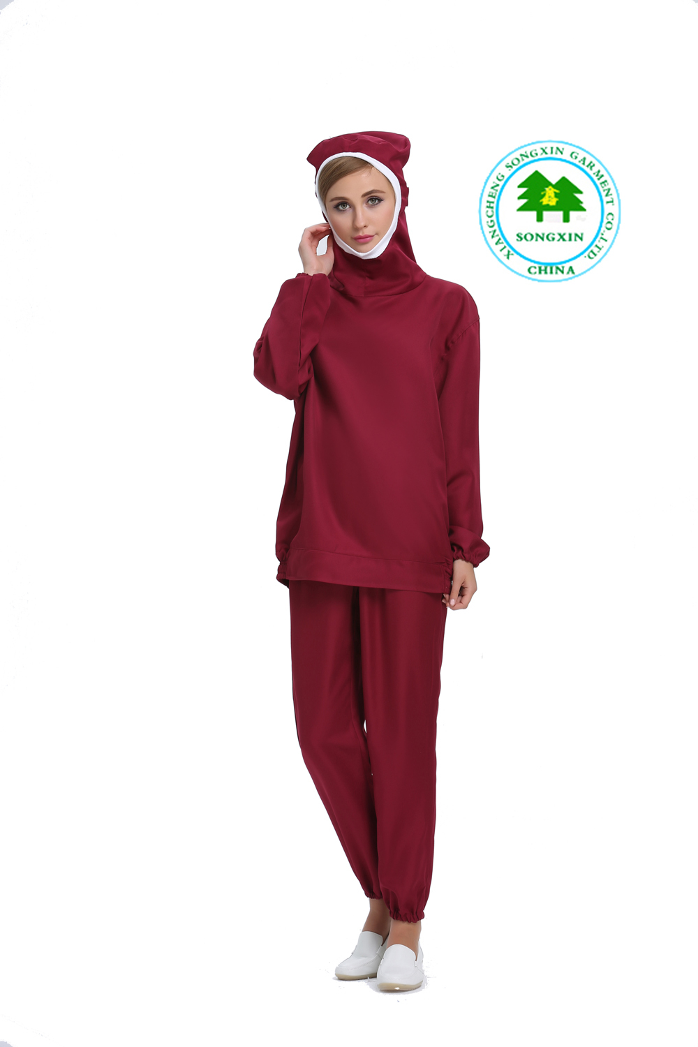 Anti Static Clothing : Free shipping oem anti static clothing coverall red work