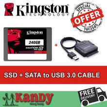 Kingston ssd 240GB hdd 256gb +SATA to usb 3.0 hhd external hard flash drive hd externo laptop computer portable solid state disk(China (Mainland))