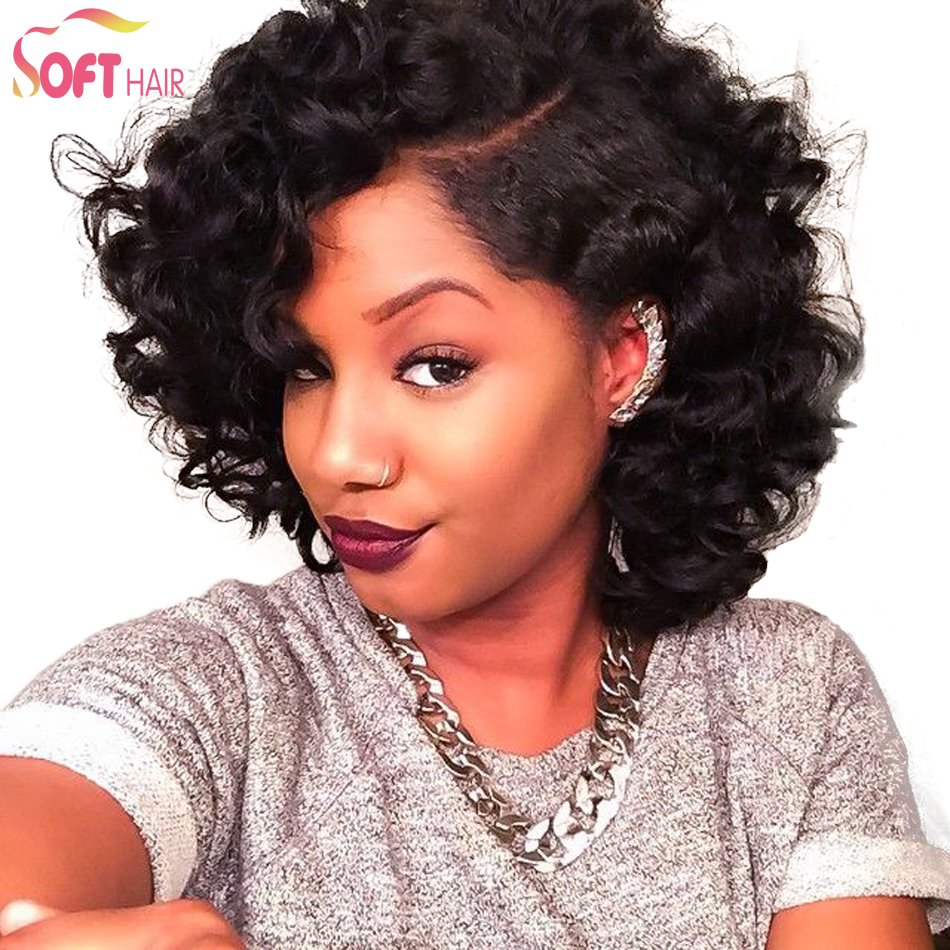 Hot!New Style Lace Front Wig Brazilian Virgin Short Human Hair Lace Front Wig Glueless Human Lace Front Wave Wigs With Baby Hair<br><br>Aliexpress