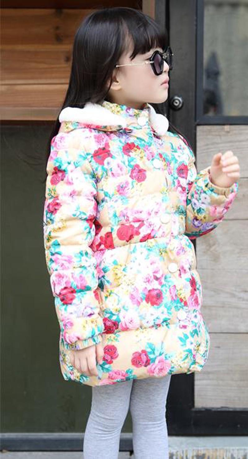 Скидки на Belababy Мальчиков Зимнее Пальто 2016 Мода Дети С Длинным Рукавом Толстовки Куртки Дети девушки Осень Большой цветок Теплый Верхняя Одежда