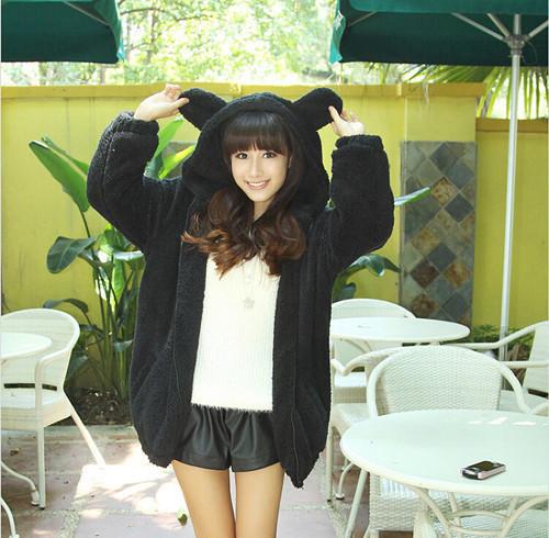 Women-gardigan-hoodies-Girl-Winter-Loose-Fluffy-Bear-Ear-Hoodie-Hooded-Jacket-Warm-Outerwear-Coat-cute