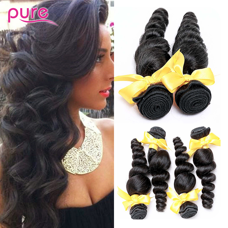 Sexy Formula Hair Products Unprocessed Filipino Virgin Hair Loose Wave 3 Pcs Lot, 7A Filipino Virgin Hair Loose Wave Human Hair
