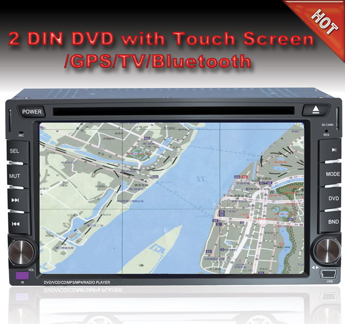"Free shipping universal 2 double Din 6.2"" inch Car DVD player with GPS,audio Radio stereo,video,Bluetooth/TV,800*480 HD,touch(China (Mainland))"