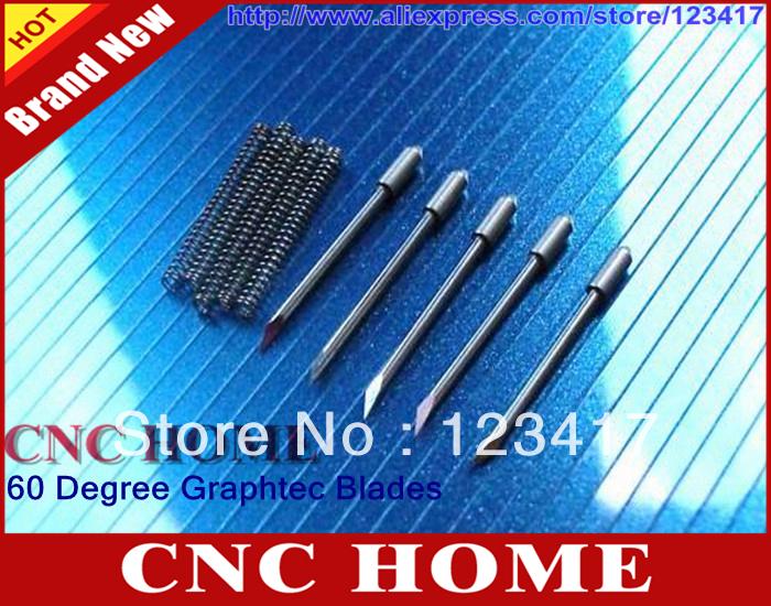 5 pcs/lot 60 Degree Carbide Graphtec 09 Vinyl Cutter Plotter/Printer Blades - Shanghai CNC HOME Ltd. Co. store