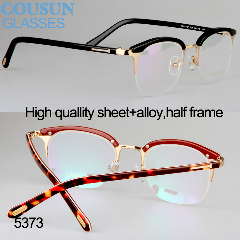 Trendsetter vintage half frame myopia eyebrow eyeglasses ...