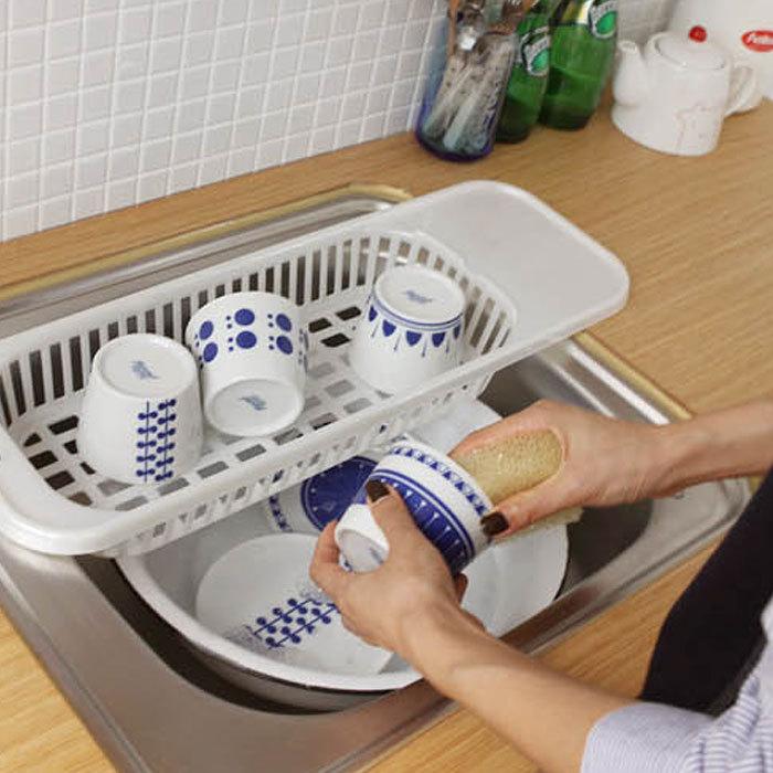 Kitchen sink drain rack insert countertop organizer rack dish drying rack drainer fruit corner - Kitchen sink drying rack ...
