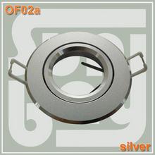 60 pz/lotto trasporto libero di alta qualità di alluminio del riflettore in alluminio raccordo corpo zoccolo del supporto gu10 argento colore(China (Mainland))
