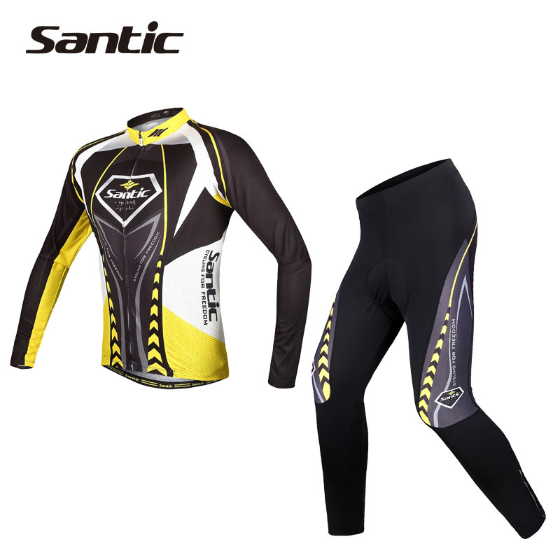 Santic Cycling Jerseys Breathable Bike Clothing Equipaciones Ciclismo/Quick-Dry Bike Jerseys/GEL Pad Pants Bicycle Suit Sets<br><br>Aliexpress