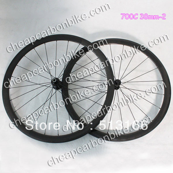 Wholesale Cheap 700C 38mm Tubular Full Carbon Fiber Bicycle WheelSet 3K Glossy Surface with Basalt Brake Layer<br><br>Aliexpress
