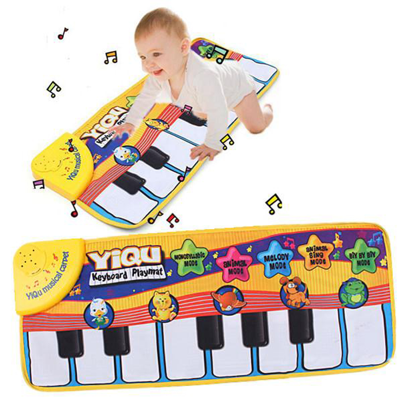 Music Game Piano Mats Touch Type Electronic Mat Multifunction Baby Play Crawling Mat Animal Sounds Sings Best Toys for KidsWJ309(China (Mainland))
