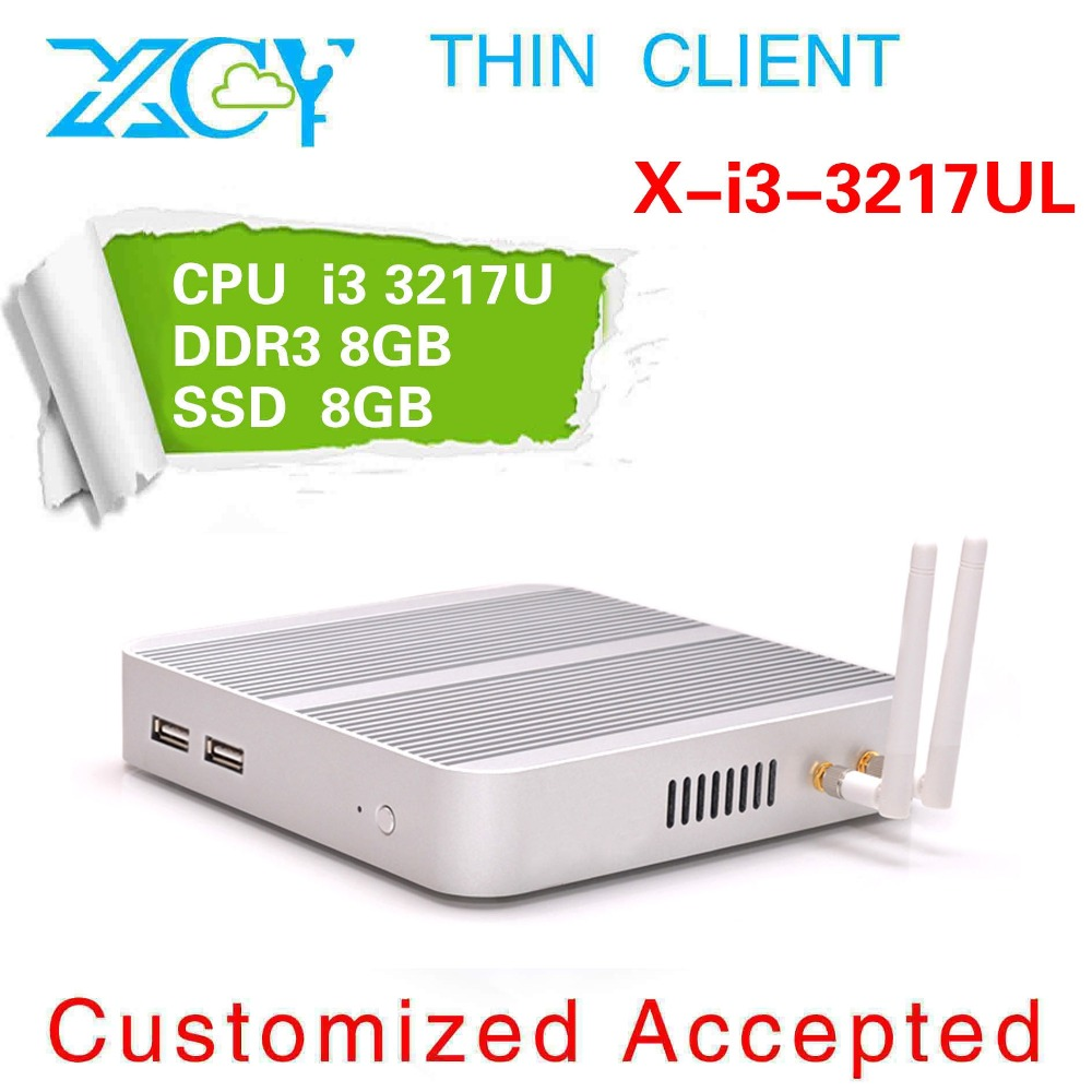 Windows7 x-i3-3217ul 1.8ghz 4gb ram 128ghz ssd HDMI+VGA fanless silvery aluminum alloy ultra small thin client htpc office pc(China (Mainland))