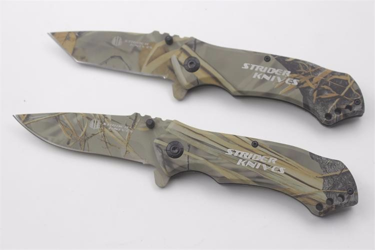 Buy Outdoor Camouflage Tactical Hunting Fighting Folding Knife Military Survival Tools Camping Fruit Knives cheap