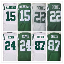 Best quality jersey,Mens 15 Brandon Marshall 22 Matt Forte 24 Darrelle Revis 87 Eric Decker elite jersey,White,Green,Size M-XXXL(China (Mainland))