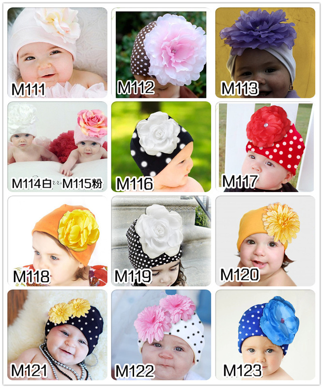 Spring Autumn big flower lovely Infant hat children kid Baby Photo Props Kids Girl Gift - First Outdoor Choice store