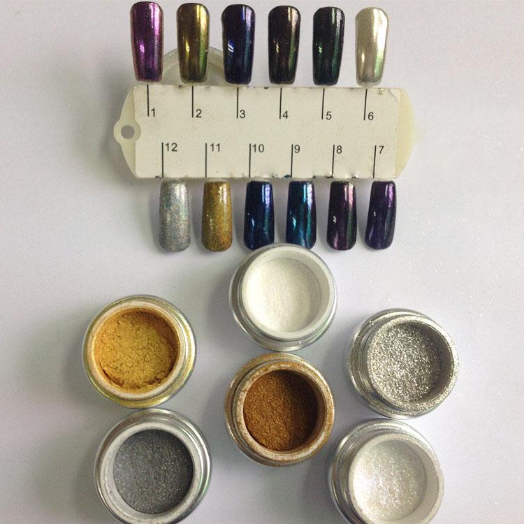 Wholesale 12 Colors Nail Art Glitter Powder Dust Metallic Color Lady Nail Salon(China (Mainland))