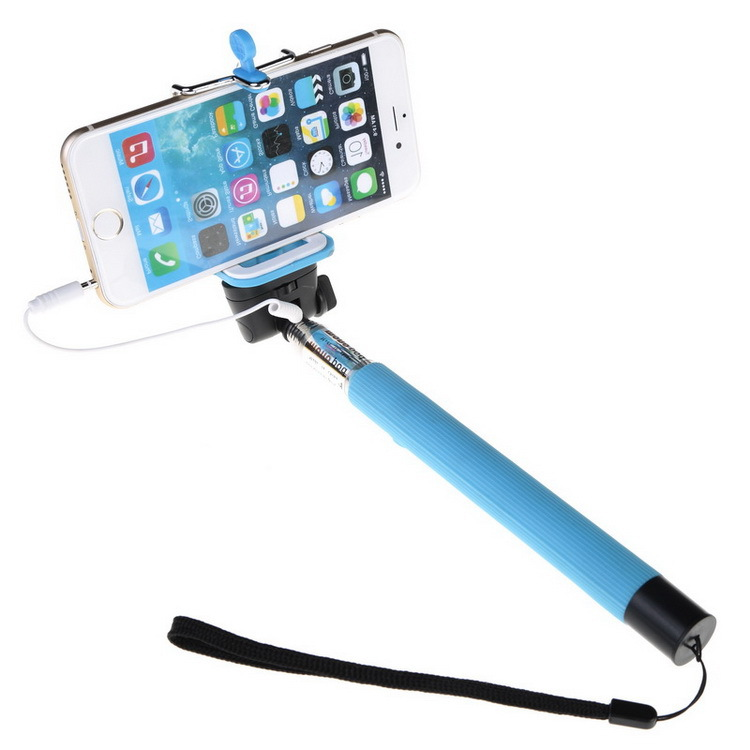 buy wired selfie stick handheld monopod for iphone samsung h. Black Bedroom Furniture Sets. Home Design Ideas