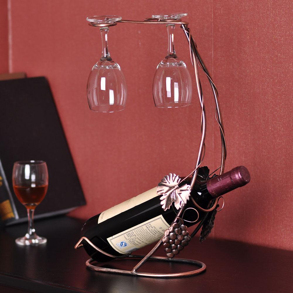 Suspendus tag res en verre de vin promotion achetez des - Porte verre suspendu bar ...