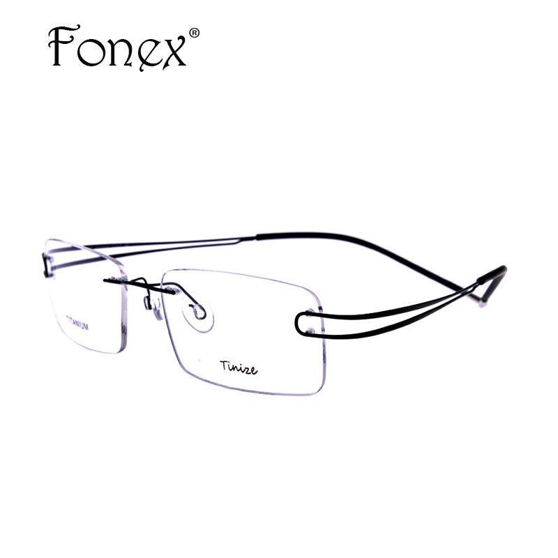 2017 Classic High Quality Men Rimless Glasses Memory ...