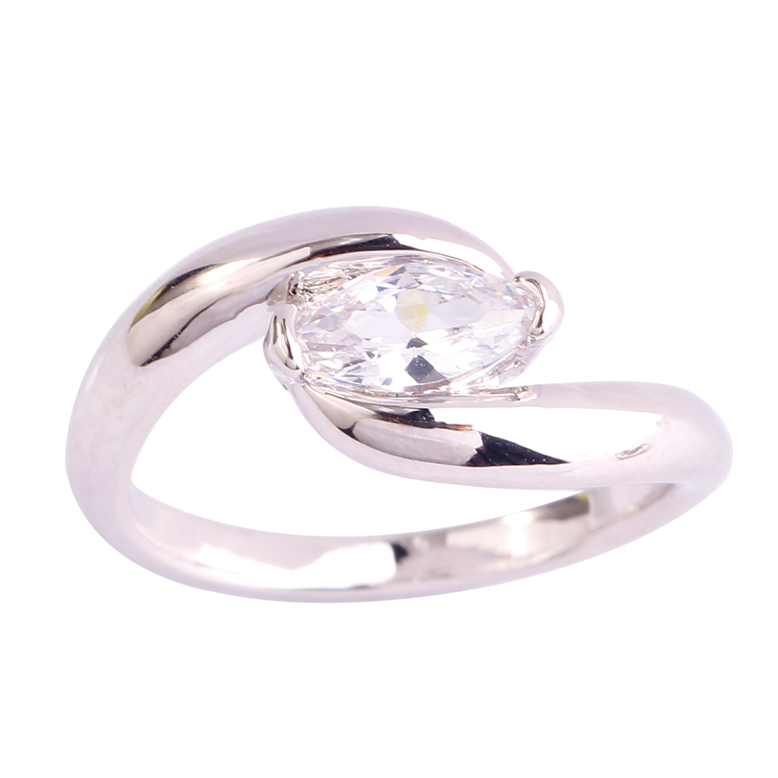 new fashion white topaz 925 silver ring free shipping