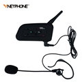 Football Referee Intercom Headset Vnetphone V4C 1200M Full Duplex Bluetooth Interphone with FM for 4 Users