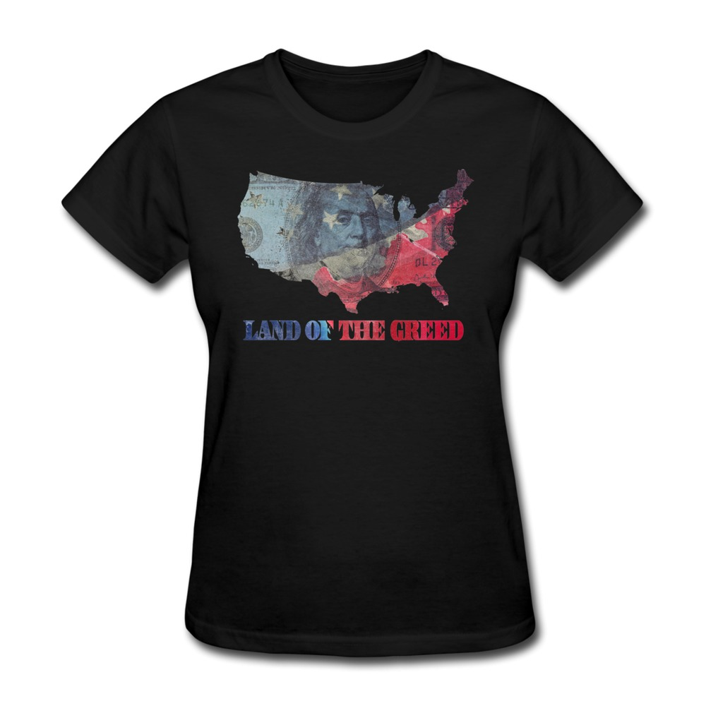 Good quality regular t shirt women land of the greed for Good quality t shirt printing