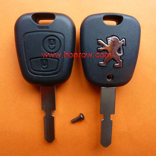 Free Shipping 5pcs lot Remote Key For Peugeot 406 2 BUTTON 433MHz Uncut Blank Blade With