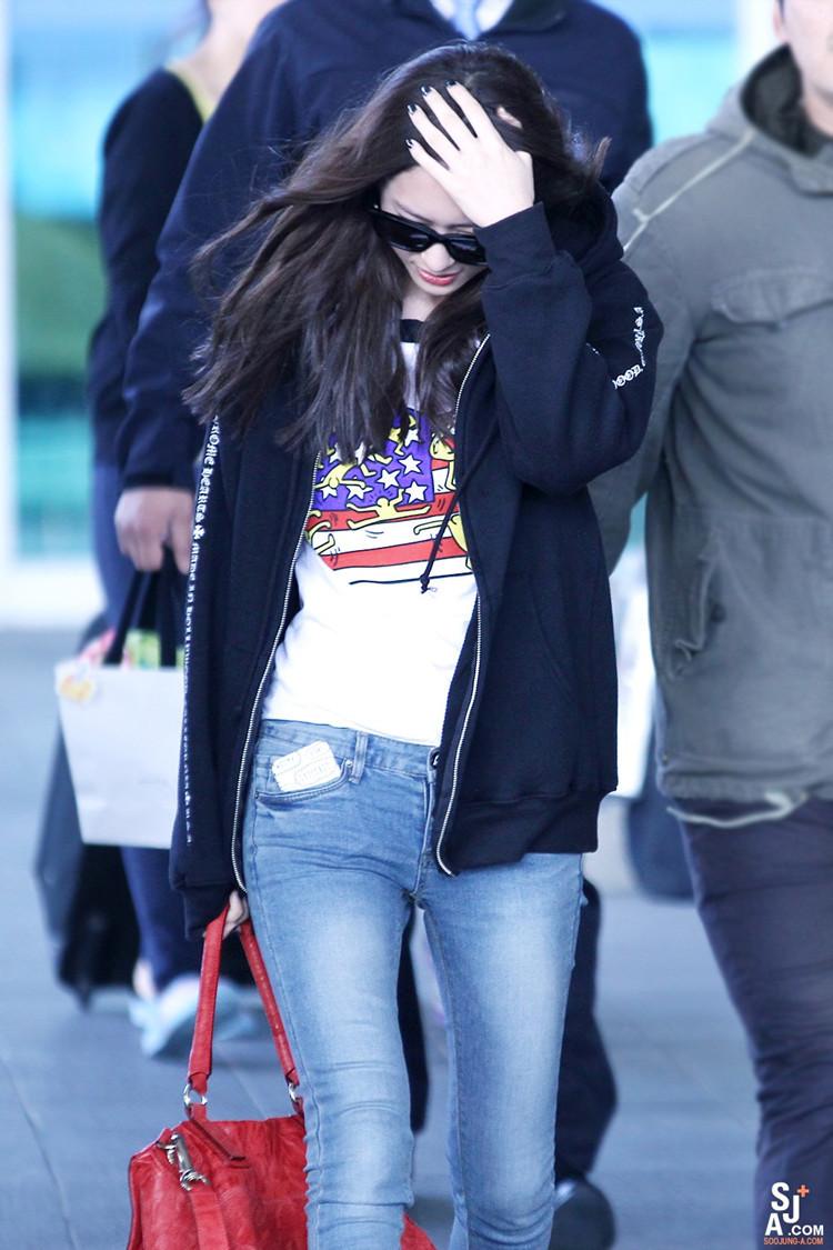 Kpop F x  Krystal airport  F(x) Krystal Airport Fashion 2014