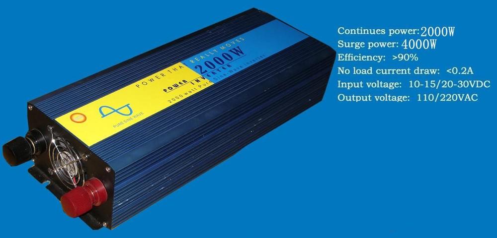 Off Grid 2000W Pure Sine Wave Inverter DC to AC 110V 220V 240V inversor solar hibrida(China (Mainland))