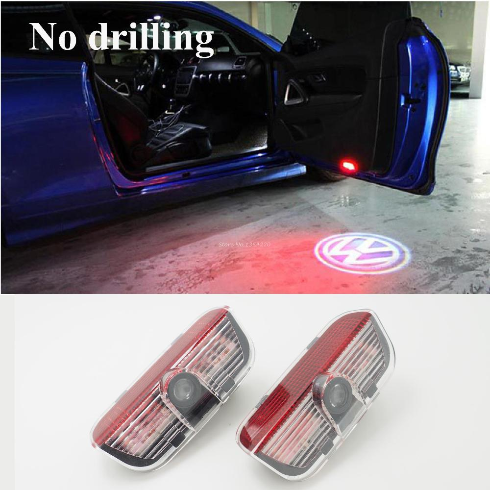 LED Car VW door courtesy laser projector Logo Ghost Shadow Light For Volkswagen Golf Jetta MK5 CC Tiguan Scirocco Passat b6(China (Mainland))
