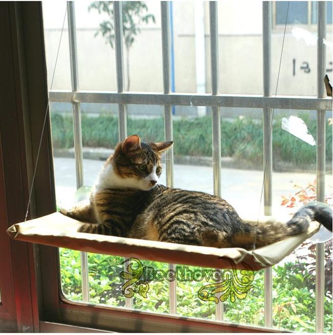 Hot selling New Window Mount Cat Bed Pet Hammock Sunny Seat ,cat hanger seat(China (Mainland))