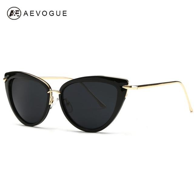 Aevogue очки женщины храм кошачий глаз солнцезащитные очки оригинальный бренд дизайнер с коробкой UV400 AE0269