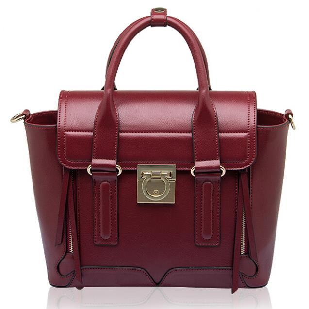2015 New Women Leather Handbag Fashion Messenger Bags Genuine Bag Vintage Shoulder Crossbody Tote Bolsas - REDBERRY WOMEN LEATHER BAGS STORE store