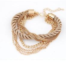 Buy 2015 New Fashion Luxury Braided Multilayer Bracelet Alloy Bangle Fashion Jewelry Pulseras Women Bracelet XY-B163 for $1.02 in AliExpress store