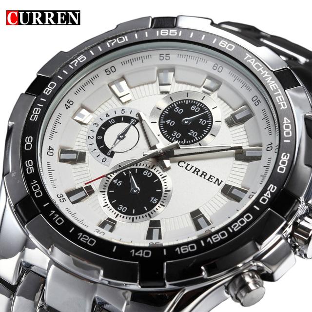 2016 бренд класса люкс полный нержавеющей стали часы мужчины бизнес свободного покроя кварцевые часы военные наручные часы водонепроницаемый Relogio новый продажа