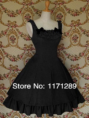 Black Lowknot Lolita Classic Dress Custom - Dream store