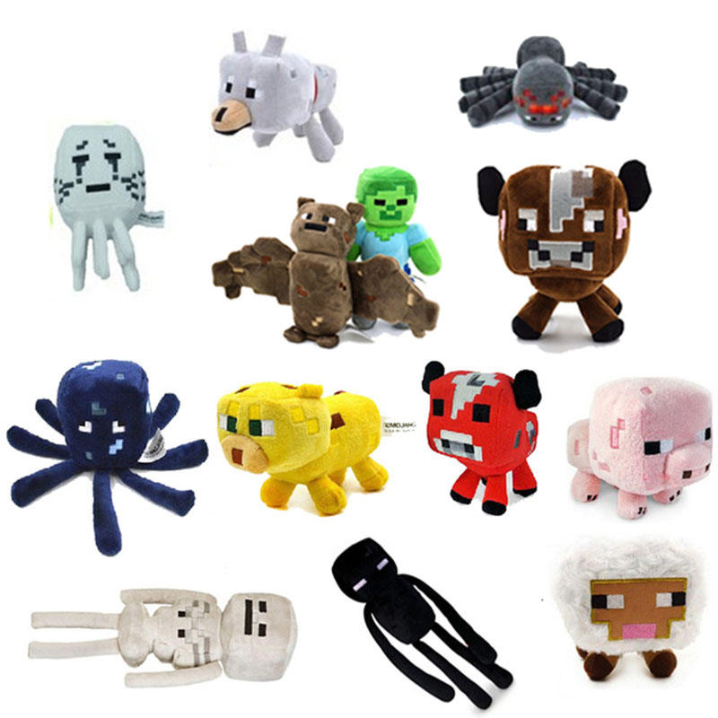 Free shipping Minecraft plush toy Brinquedos Game Toys Cheapest Sale High Quality Plush Toys Cartoon Game Toys(China (Mainland))