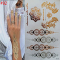 gold tattoo sex products necklace bracelets tattoo metal temporary tattoo women flash metalic fake gold silver  tattoos
