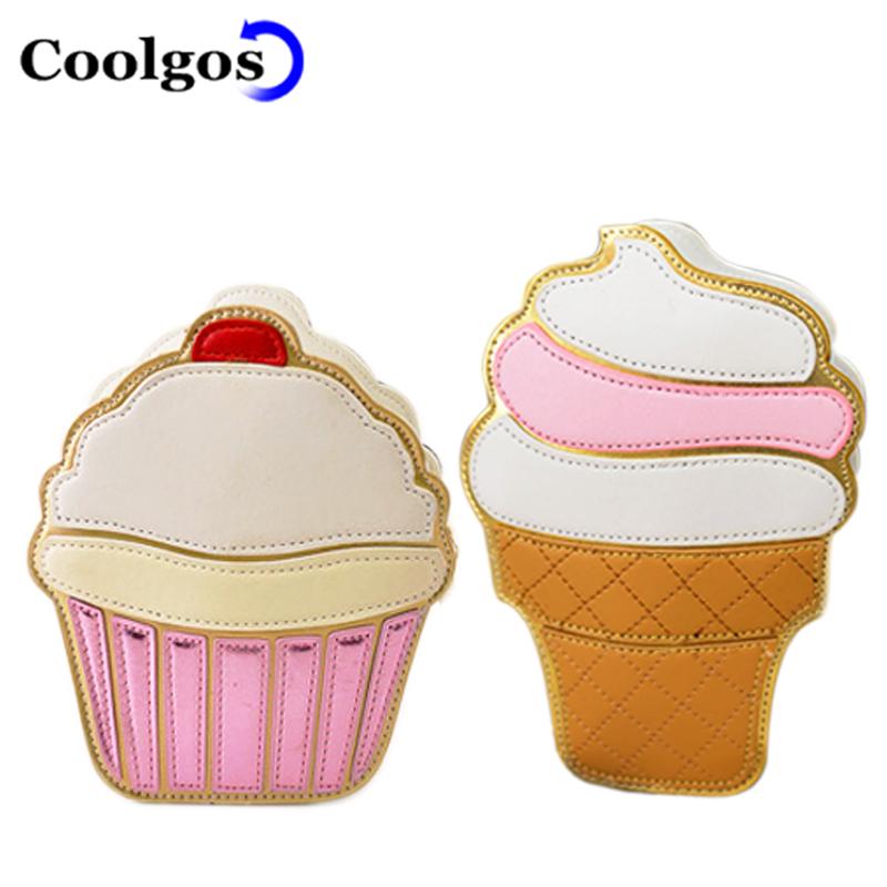 2016 Hot Ladies Ice Cream Summer Bags PU Leather Messenger Bags Five Colours Small Size Handbags Cake Bag Lady Diamond Bag(China (Mainland))
