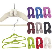 3 pcs Mini Flocking Clothes Hanger  Home Creative Easy  Hook Closet Organizer Random Color(China (Mainland))