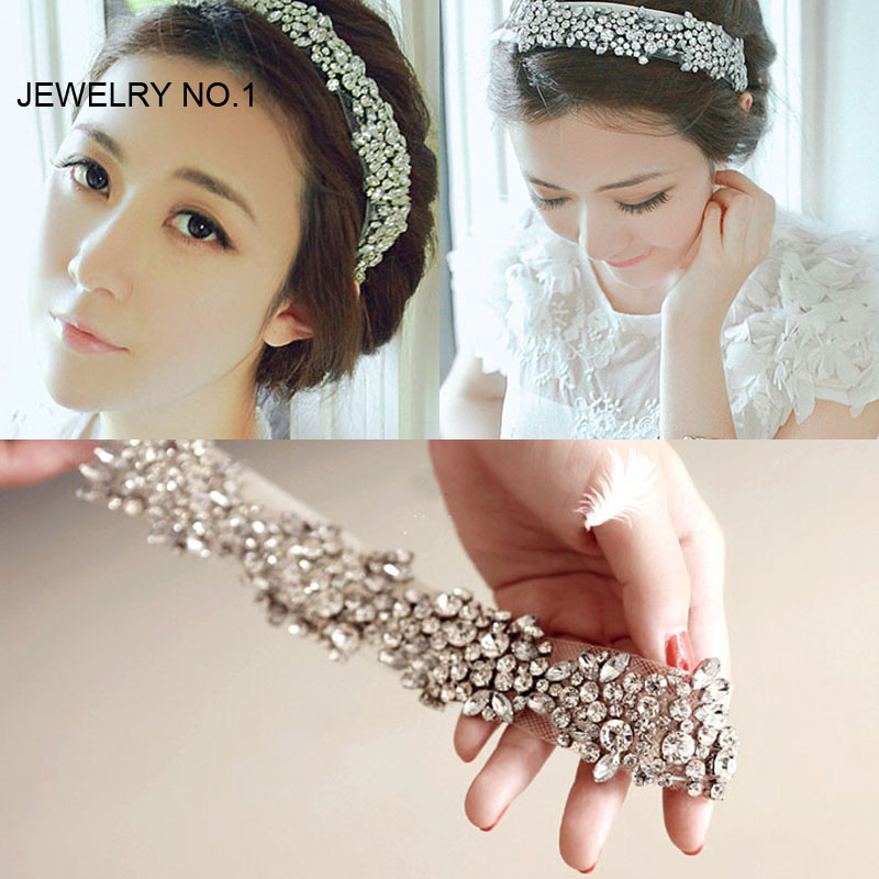 2016 Latest Women's Network Shine Headband Bridal Hair Accessories Crystal Rhinestone Crown Wedding Hair Accessories(China (Mainland))