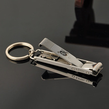 EDC Ultra-thin Foldable Hand Toe Nail Clippers Cutter Trimmer Stainless Keychain