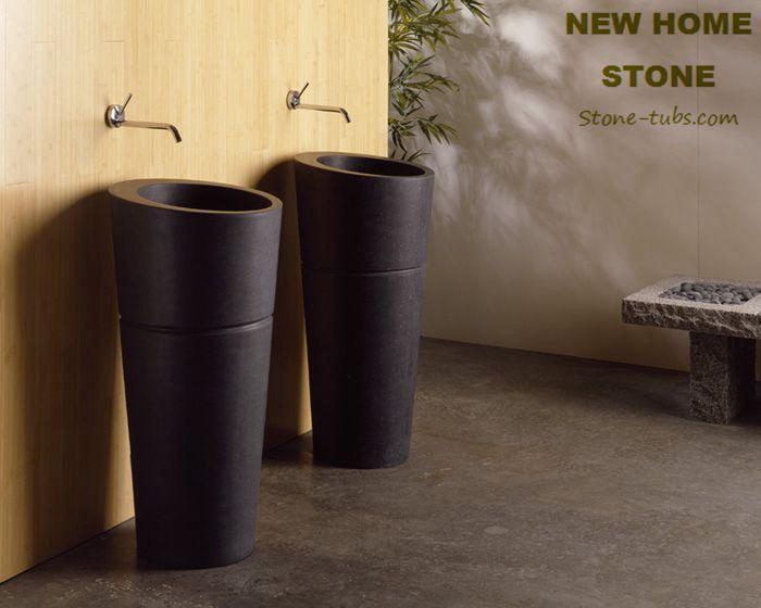 Buy Stone Pedestal Sinks 2015 New Designer Black Marble Pedestal Sinks ...
