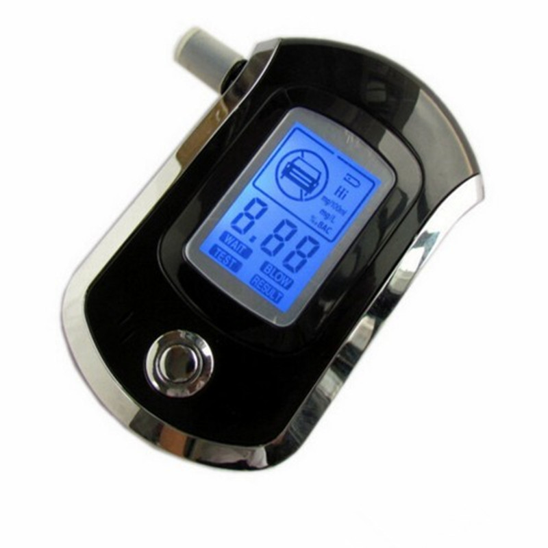 NEW!!Professional Mini Police Digital LCD Screen Breath Alkohol Alcohol Tester Breathalyzer AT6000 Bafometro Alcoholimetro 8901(China (Mainland))