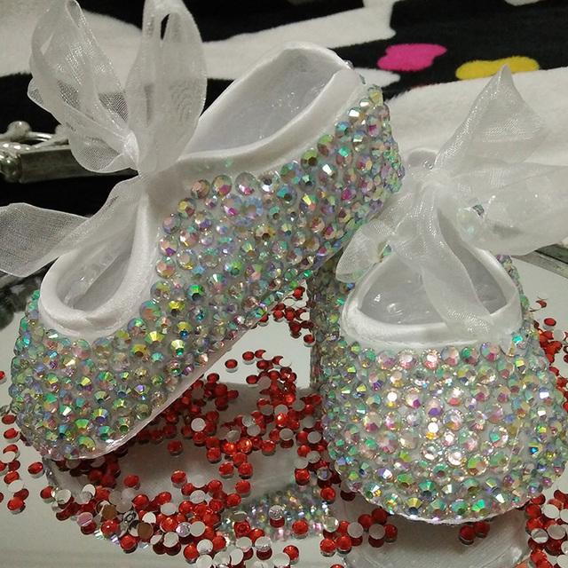 Бесплатная доставка горный хрусталь кристалл девочка ребенок обувь ручной шику алмазной ...