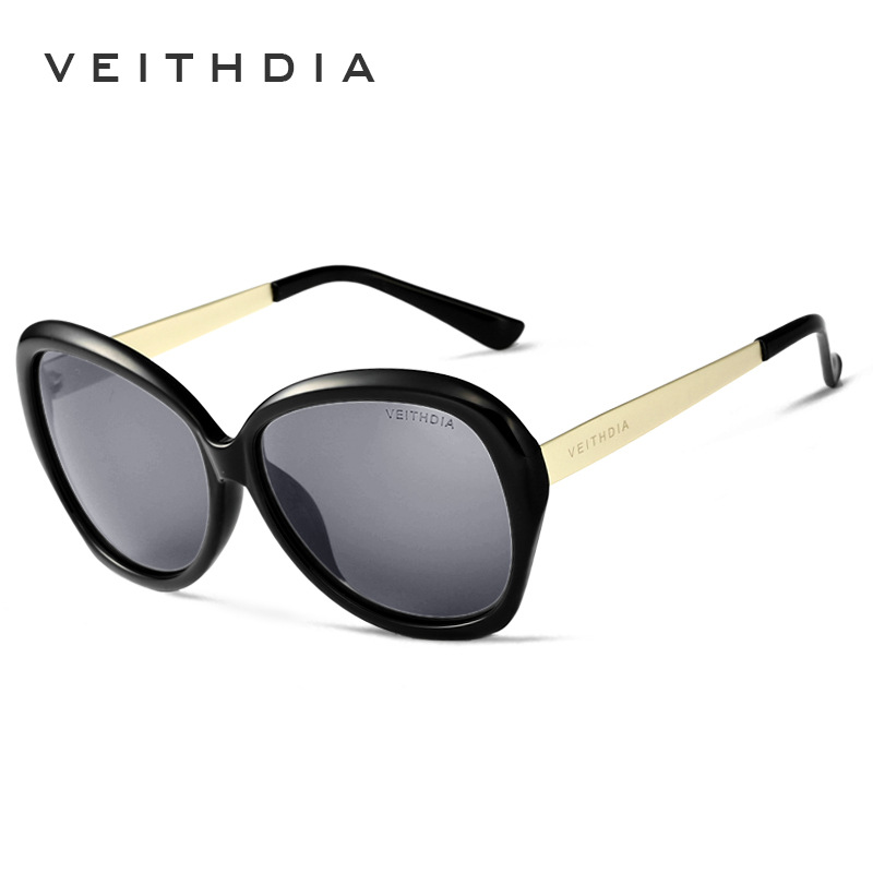 VEITHDIA TR90 Alloy Women's Driving Sun glasses Polarized Mirror Lens Luxury Ladies Designer Sunglasses Eyewear For Women 8012(China (Mainland))