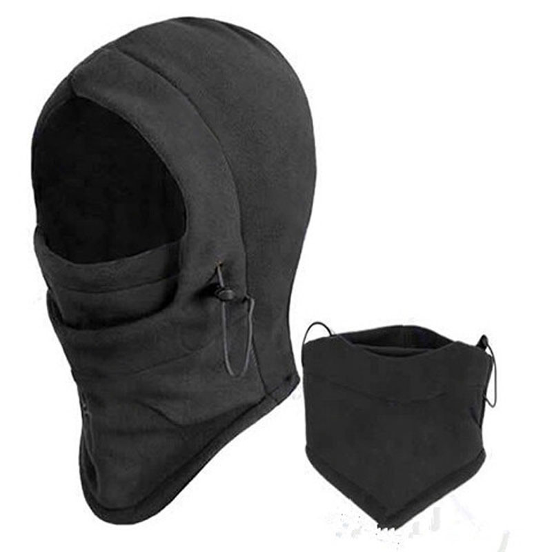 Skull Mask Balaclava Autumn Winter Thermal Fleece Hood Neck Warm Bandit Mask Ski Bike Gorro for