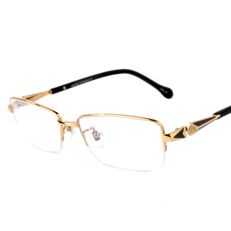 Lightweight Titanium Eyeglass Frames : Ultra light titanium glasses frame myopia glasses male ...